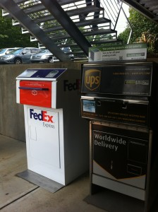 Fed Ex and UPS Drop Boxes at East Decatur Station
